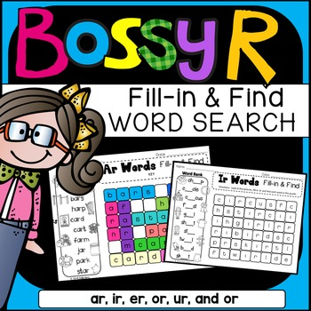 R-Controlled Vowels Word Search: Fill-in-and-Find Phonics Puzzles (Bossy R)