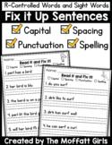R-Controlled Vowels Fix it Up Sentences