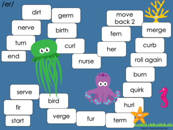 R Controlled Vowel Games with ar, er, or and more