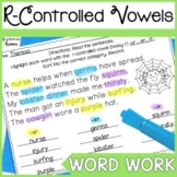 R Controlled Vowel Word Work: Highlight & Record