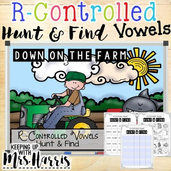 R-Controlled Vowels Hunt & Find Game