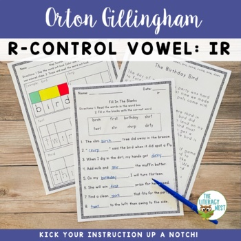 R Controlled Vowels Phonics Practice {IR}