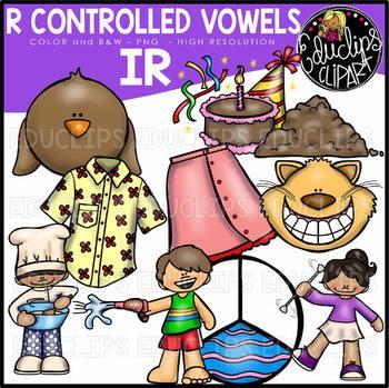 R Controlled Vowels - IR Clip Art Bundle {Educlips Clipart}