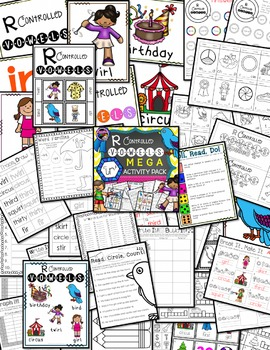 R Controlled Vowels: IR Mega Activity Pack