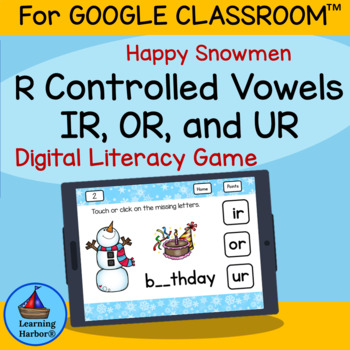 R Controlled Vowels  IR, OR and UR  Happy Snowmen