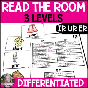 R-Controlled Vowels IR/UR/ER Differentiated Read the Room