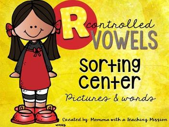 R Controlled Vowels Literacy Sorting Word Work RF.1.3