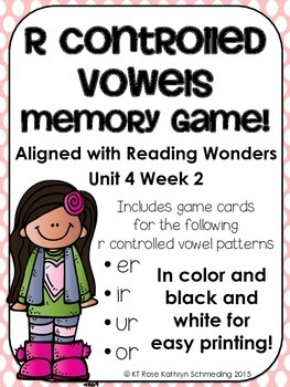 R-Controlled Vowels Memory Game---Aligned with Reading Won