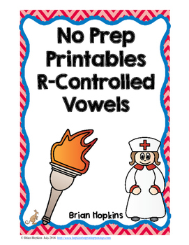 R-Controlled Vowels No Prep Printables