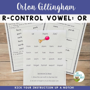 R Controlled Vowels Phonics Practice {OR}