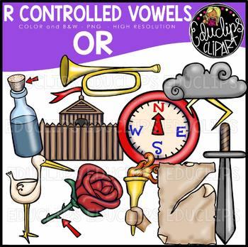 R Controlled Vowels - OR Clip Art Bundle {Educlips Clipart}