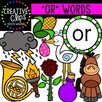 R-Controlled Vowels: OR {Creative Clips Digital Clipart}