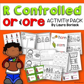 R Controlled Vowels OR & ORE ~ Activity Pack