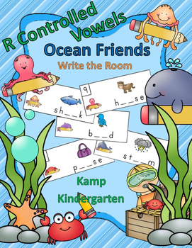R Controlled Vowels Ocean Friends Write the Room