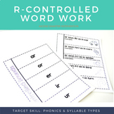 R-Controlled Vowels Activities (ar, or, er, ir, ur)