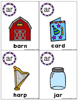 R Controlled Vowels Phonics Flashcards Bundle
