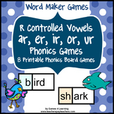 R Controlled Vowels Games with ar, er, ir, or, ur Words