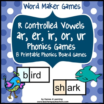 picture regarding Printable Phonic Games titled R Regulated Vowels Online games with ar, er, ir, or, ur Text