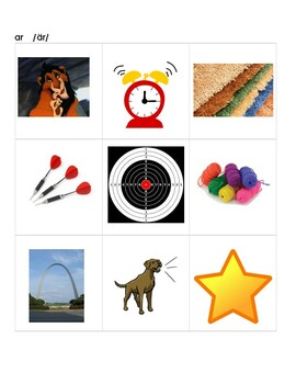 R-Controlled Vowels, Pictures for Moveable Alphabet