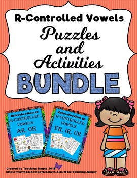 R Controlled Vowels Puzzles and Activities
