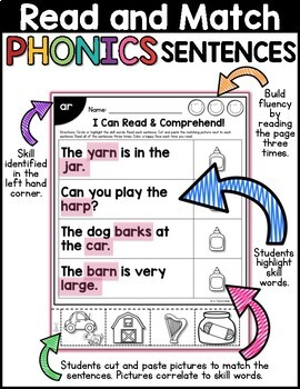 R-Controlled Vowels: Read & Match Sentences with R-Controlled Vowels