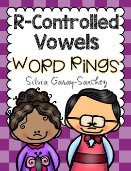 R Controlled Vowels Ring Word Cards