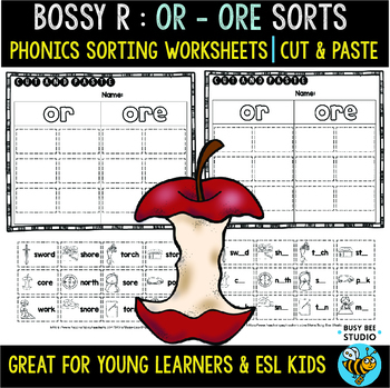 R-Controlled Vowels Sorts - BUNDLE   Cut and Paste Worksheets
