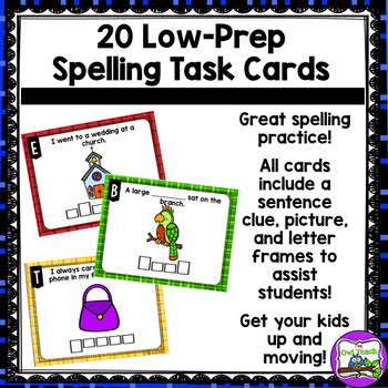 R-Controlled Vowels:  Spelling Task Cards