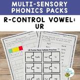 R Controlled Vowels UR Orton-Gillingham Level 2 Multisensory Phonics Activities