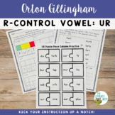 Orton-Gillingham Phonics Multisensory Activities R-Controlled Vowels UR
