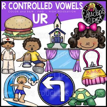 R Controlled Vowels - UR Clip Art Bundle {Educlips Clipart}