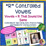 """Digital """"R"""" Controlled Vowels: Vowels + R That Sound the Same w/Task Cards"""