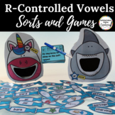 R-Controlled Vowels: Word Sorts,  Interactive Notebook & Games