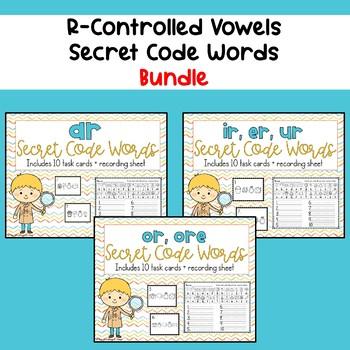 R-Controlled Vowels Word Work - Secret Code Words BUNDLE