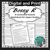 R Controlled Vowels Worksheet for Upper Grades Distance Learning