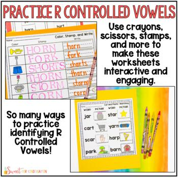 R Controlled Vowels Worksheets