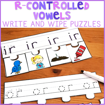 R-Controlled Vowels Write and Wipe Puzzles