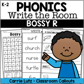WRITE THE ROOM - Bossy R - With Extension Activities