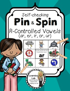 R Controlled Vowels (ar, er, ir, or, ur) - Self-Checking Phonics Centers
