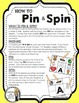 R Controlled Vowels (ar, er, ir, or, ur) - A Pin & Spin Activity