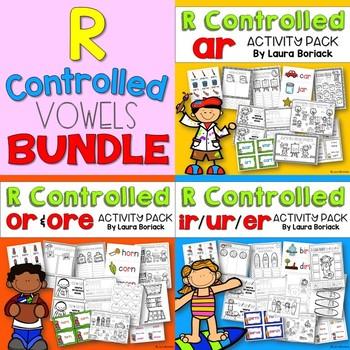 R Controlled Vowels ar, ir/ur/er, or/ore ~ Activity Pack BUNDLE
