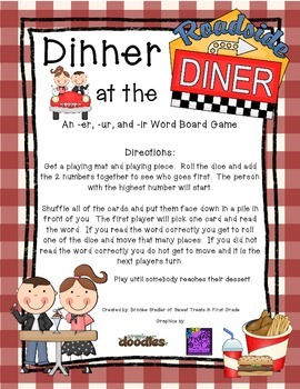 R-Controlled Vowels -er, -ir, and -ur - Dinner at the Diner