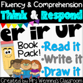 R-Controlled Vowels er, ir, ur (Bossy R) Book: Think and Respond! 2 versions!