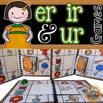 R Controlled Vowels er ir ur:   Phonics Games for Word Work or Centers