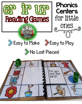 R Controlled Vowels er ir ur:   Phonics Games for Word Work or Literacy Centers