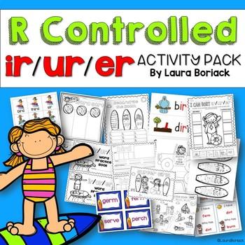 R Controlled Vowels ir/ur/er Activity Pack