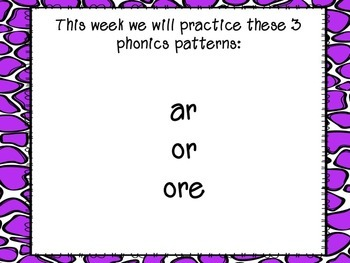 R-Controlled Vowels PowerPoint (or, ar and ore)