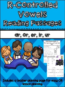 R-Controlled Vowels reading passages {{mini books with comprehension questions}}