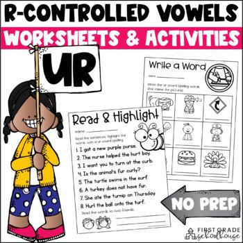 R-Controlled Vowels ur Word Work