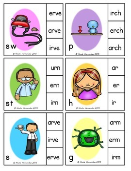 Clip Cards - {r controlled Vowels}